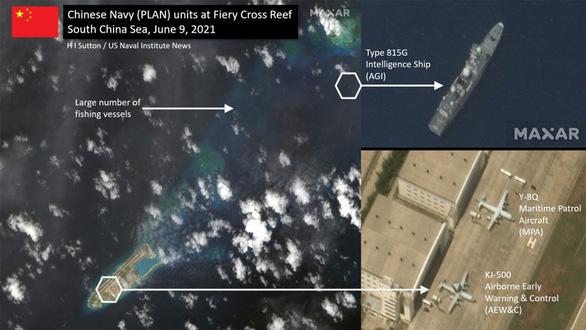 Việt Nam lên tiếng việc máy bay và tàu trinh sát Trung Quốc xuất hiện ở Đá Chữ Thập - Ảnh 1.