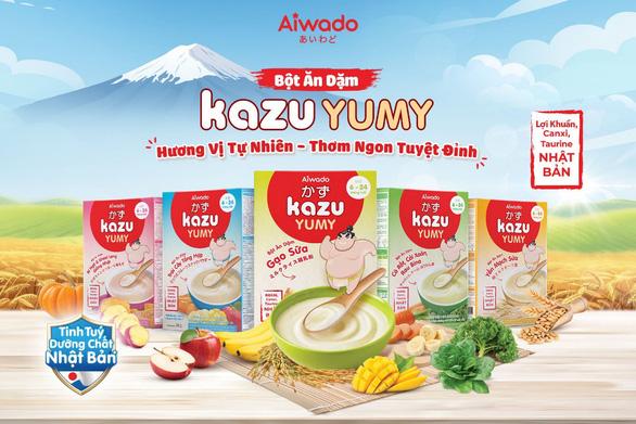 Aiwado ra mắt bột ăn dặm Kazu Yumy với tinh túy dưỡng chất từ Nhật Bản - Ảnh 1.