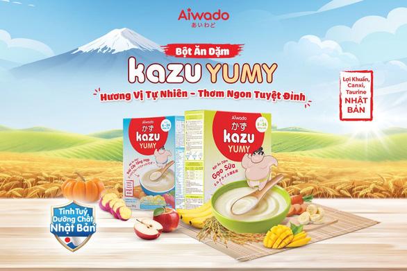 Aiwado ra mắt bột ăn dặm Kazu Yumy với tinh túy dưỡng chất từ Nhật Bản - Ảnh 2.