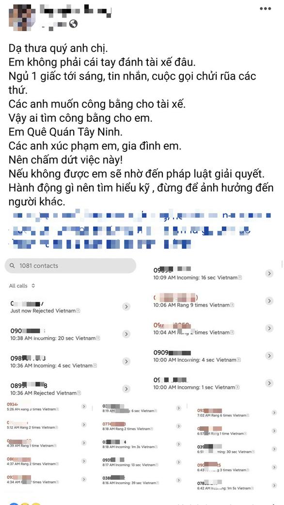 Nhận hàng trăm tin nhắn khủng bố oan vì bị lầm tưởng là người đánh tài xế - Ảnh 1.