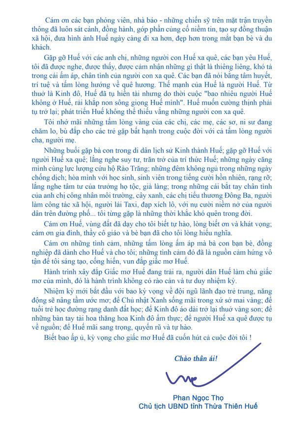 Chủ tịch tỉnh Thừa Thiên Huế:  Kỳ vọng cho giấc mơ Huế đã cuốn hút cả cuộc đời tôi! - Ảnh 3.