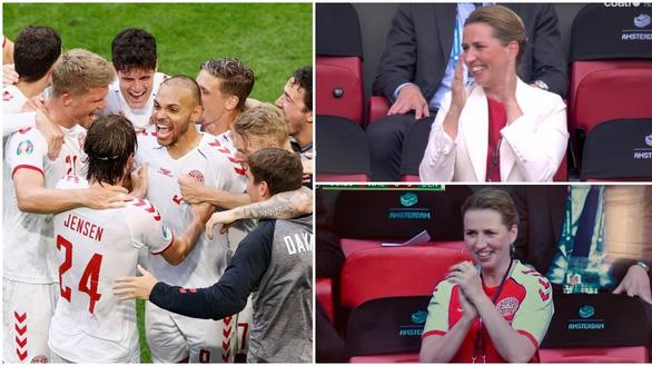 Nữ thủ tướng Đan Mạch được gọi là cổ động viên số 1 của Euro 2020 - Ảnh 1.