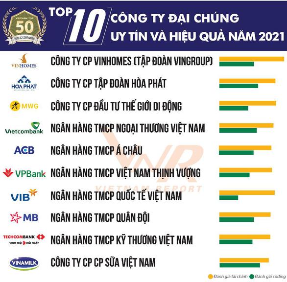 Top 10 công ty đại chúng uy tín và hiệu quả 2021 - Ảnh 1.