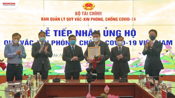 Honda Việt Nam ủng hộ 12 tỉ đồng vào Quỹ vắc xin phòng COVID-19 - Ảnh 2.