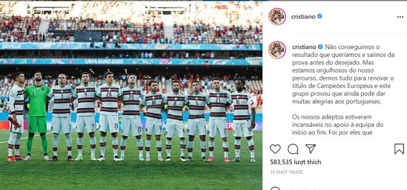 Ronaldo viết tâm thư bày tỏ nỗi lòng sau khi đội tuyển Bồ Đào Nha bị soán ngôi - Ảnh 1.