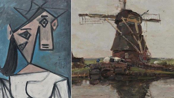 Tìm thấy 2 tác phẩm nổi tiếng của Picasso và Mondrian sau 9 năm mất cắp - Ảnh 1.