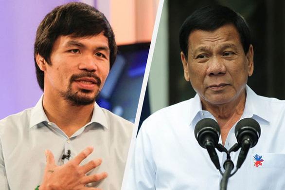 Ông Duterte thách võ sĩ quyền anh Pacquiao vạch mặt tham nhũng - Ảnh 1.