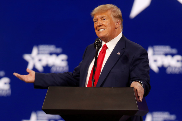 Phát biểu đầu tiên sau nhiều tháng, sự kiện của ông Trump sạch vé - Ảnh 1.