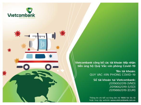 Vietcombank miễn phí chuyển tiền ủng hộ Quỹ vắc xin - Ảnh 1.