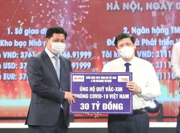 TNG Holdings Vietnam và MSB ủng hộ gần 50 tỉ đồng cho hoạt động phòng, chống COVID-19 - Ảnh 1.