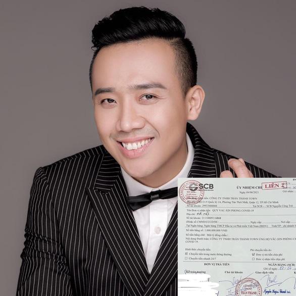 Trấn Thành ủng hộ 1 tỉ đồng mua vắc xin, MV của Sơn Tùng cán mốc 100 triệu lượt xem nhanh nhất - Ảnh 2.