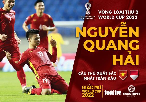 Quang Hải được bầu chọn là cầu thủ xuất sắc nhất trận Việt Nam - Indonesia - Ảnh 1.