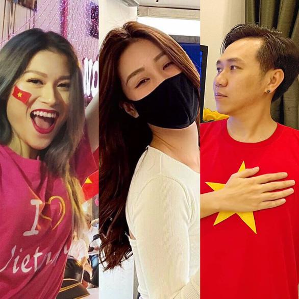 Tiến Luật, Hồ Việt Trung, Khánh Vân... ăn mừng Việt Nam chiến thắng 4-0 - Ảnh 1.