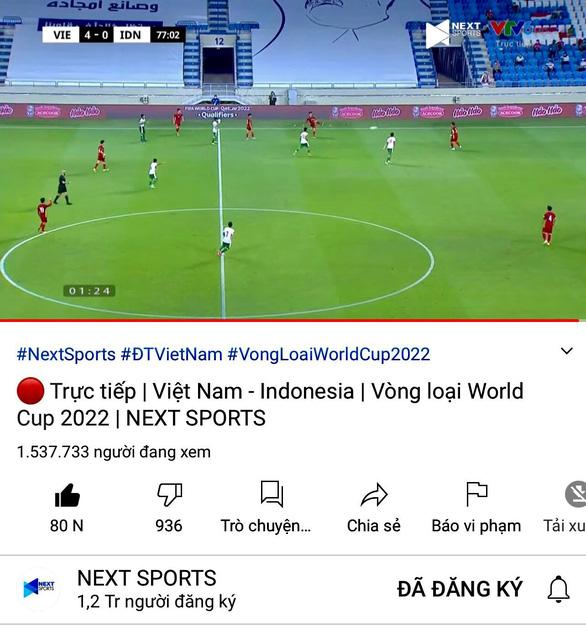 Việt Nam đè bẹp Indonesia, Next Media duy trì vị thế số 1 về kỷ lục người xem trên Internet - Ảnh 1.