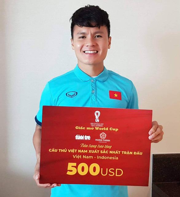 Quang Hải nhận danh hiệu cầu thủ xuất sắc nhất trận đấu tại UAE - Ảnh 1.