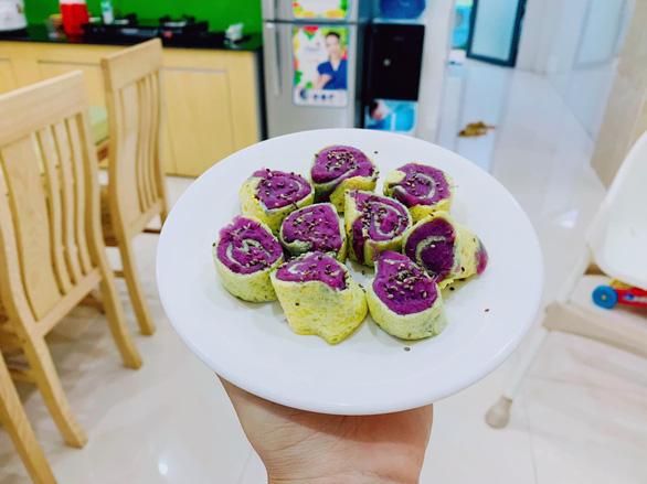 Dân mạng thỏa sức sáng tạo với các món từ khoai lang tím - Ảnh 1.