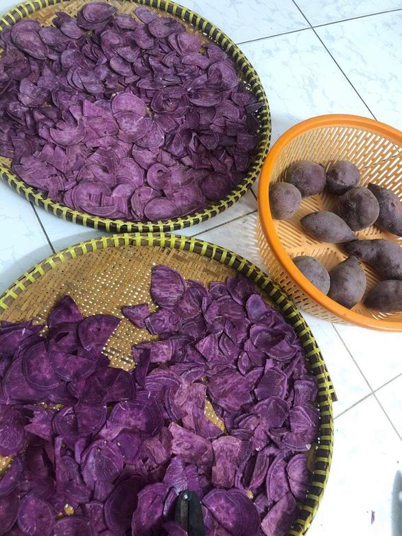 Dân mạng thỏa sức sáng tạo với các món từ khoai lang tím - Ảnh 9.