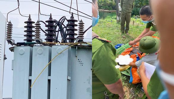 Cắt trộm cáp điện ở trạm biến áp, bị điện giật chết - Ảnh 1.