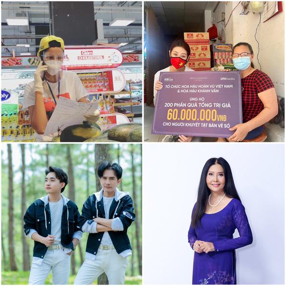 HHen Niê, Đại Nghĩa, Quỳnh Hoa... đi siêu thị giúp người dân - Ảnh 1.