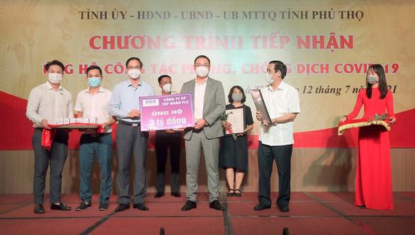 Tặng Phú Thọ 3 tỉ đồng, FLC mở rộng bản đồ hỗ trợ chống COVID-19 hơn 10 tỉnh, thành phố - Ảnh 1.