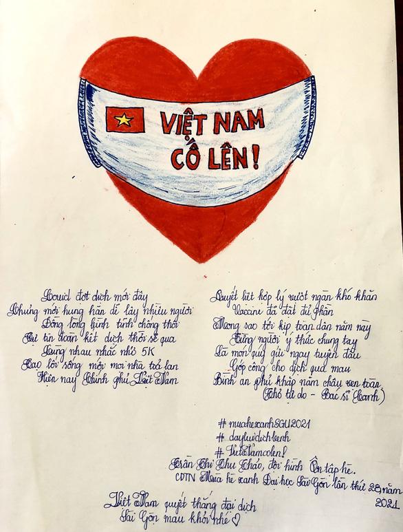 Việt Nam cố lên qua những thông điệp từ người trẻ - Ảnh 1.