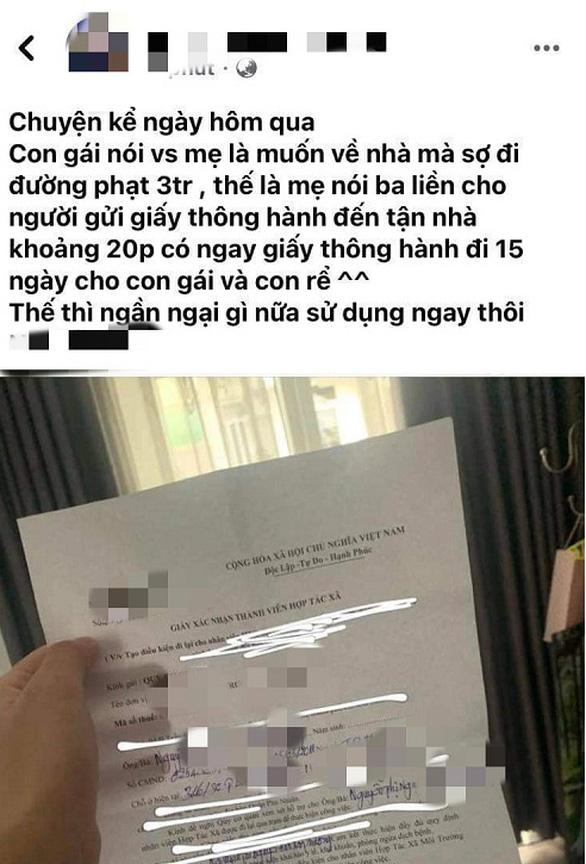Phú Nhuận xác minh vụ 'con ra đường sợ bị phạt, ba cấp giấy thông hành - Ảnh 2.