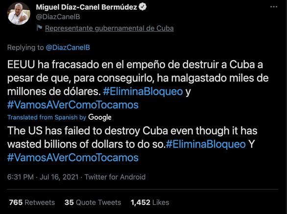 Chủ tịch Cuba nói Mỹ 'thất bại trong nỗ lực tiêu diệt Cuba' - Ảnh 2.