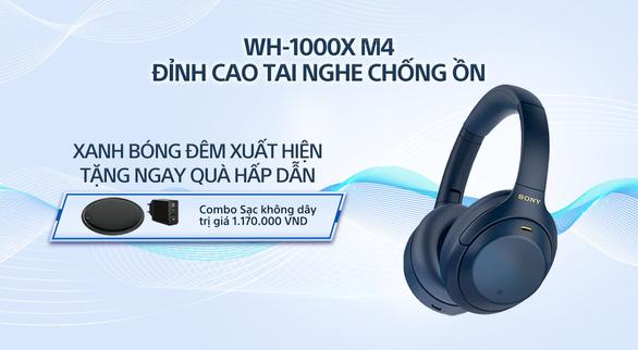 Sony giới thiệu tai nghe chống ồn đỉnh cao WH-1000XM4 phiên bản Xanh bóng đêm - Ảnh 1.