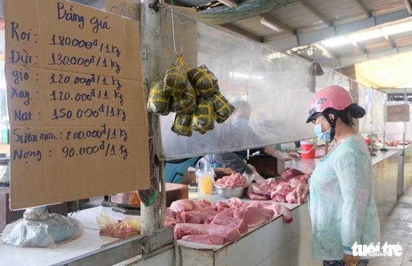 Tiểu thương chợ truyền thống TP.HCM niêm yết giá thực phẩm theo ngày - Ảnh 1.