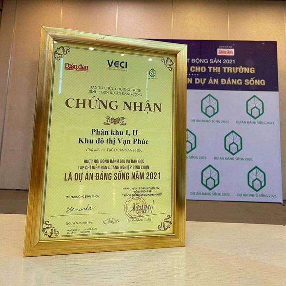 Van Phuc City nhận giải thưởng Dự án đáng sống 2021 - Ảnh 2.