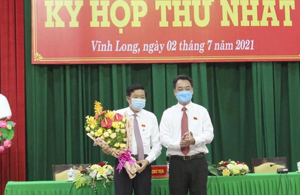 Chủ tịch HĐND và chủ tịch UBND tỉnh Vĩnh Long tái đắc cử - Ảnh 1.