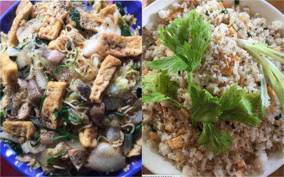 Mì gói xào chay và cơm chiên hột vịt: Không đột phá ẩm thực nhưng cũng đỡ ngán qua ngày - Ảnh 1.