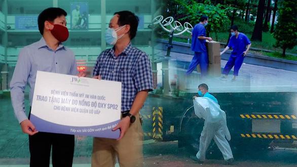 Bệnh viện JW tiếp sức chống dịch với hàng trăm thiết bị y tế - Ảnh 1.