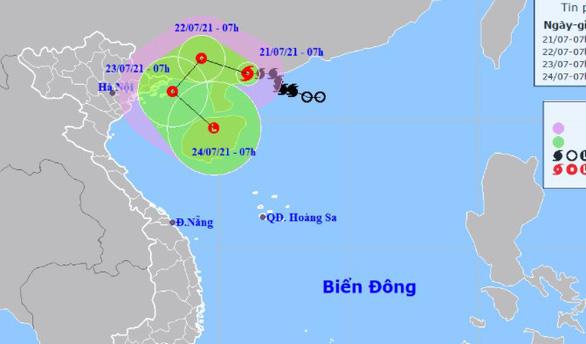 Bão số 3 khả năng đổi hướng vào vịnh Bắc Bộ, hai miền Bắc - Nam mưa lớn - Ảnh 1.