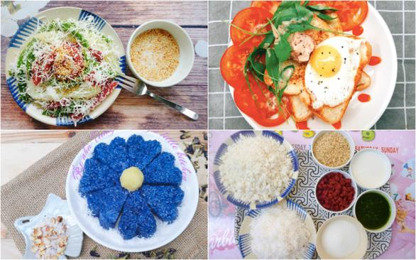 Bánh tằm, xôi hoa đậu, bánh kẹp - bữa sáng có gì ăn nấy mùa giãn cách - Ảnh 1.