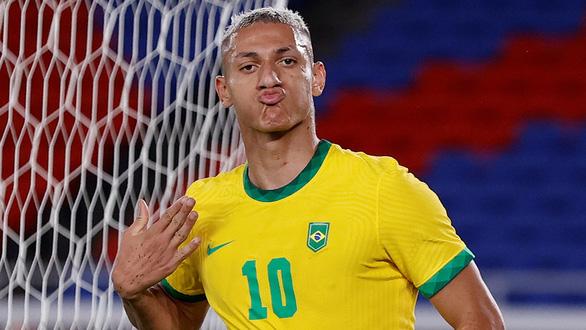 Richarlison lập hat-trick, Brazil thắng đậm Đức ngày ra quân Olympic Tokyo - Ảnh 1.