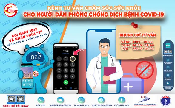 Người dân TP.HCM cần tư vấn chăm sóc sức khỏe có thể gọi 1022 - nhấn phím 3 - Ảnh 1.