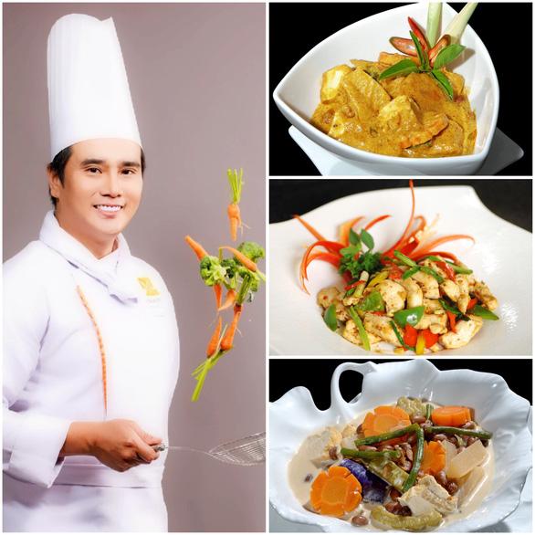 Bếp trưởng Tạ Đình Nhựt bày món dễ làm: Rau củ kho, cà ri rau củ, gà xào ớt chuông - Ảnh 1.