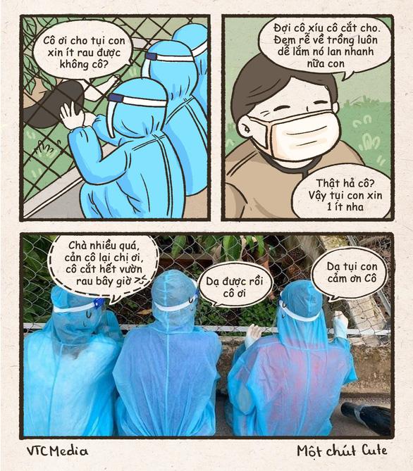Tình nguyện viên chống dịch xin rau, cộng đồng mạng vẽ tranh vì... thương quá - Ảnh 5.