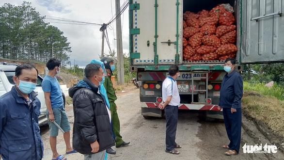 Tạm giữ 29 tấn khoai tây Trung Quốc chuyển vào Đà Lạt - Ảnh 1.