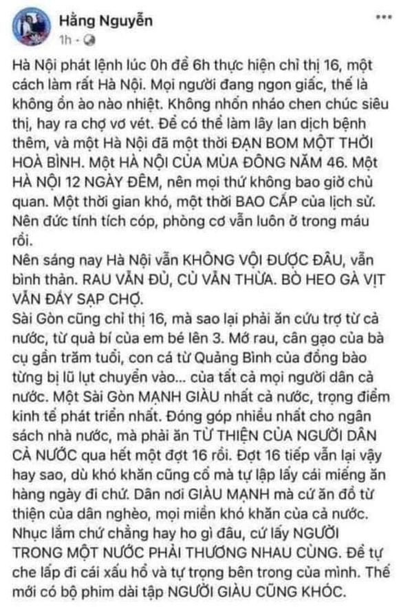 Sở Thông tin và truyền thông TP.HCM mời làm việc, xử lý chủ Facebook Hằng Nguyễn - Ảnh 1.