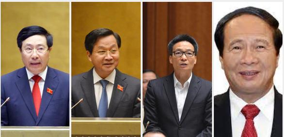 4 phó thủ tướng đương nhiệm được trình để phê chuẩn nhiệm kỳ mới - Ảnh 1.
