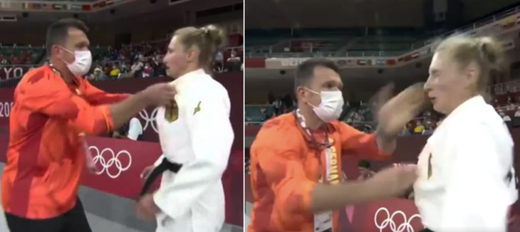 Nữ võ sĩ judo bị huấn luyện viên tát 2 cái và lắc mạnh trước trận đấu ở Olympic - Ảnh 1.