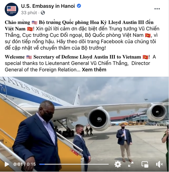 Bộ trưởng Quốc phòng Mỹ Lloyd Austin tới Việt Nam - Ảnh 2.