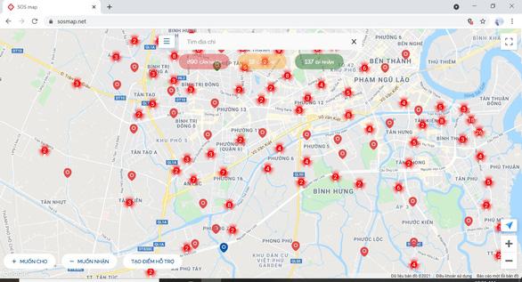 SOSmap - bản đồ kết nối giúp đỡ người khó khăn - Ảnh 1.