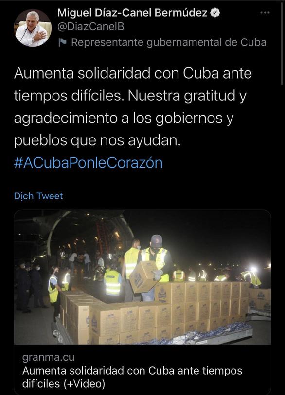 Chủ tịch nước Cuba bày tỏ lòng biết ơn và cảm tạ Việt Nam, bạn bè quốc tế - Ảnh 1.