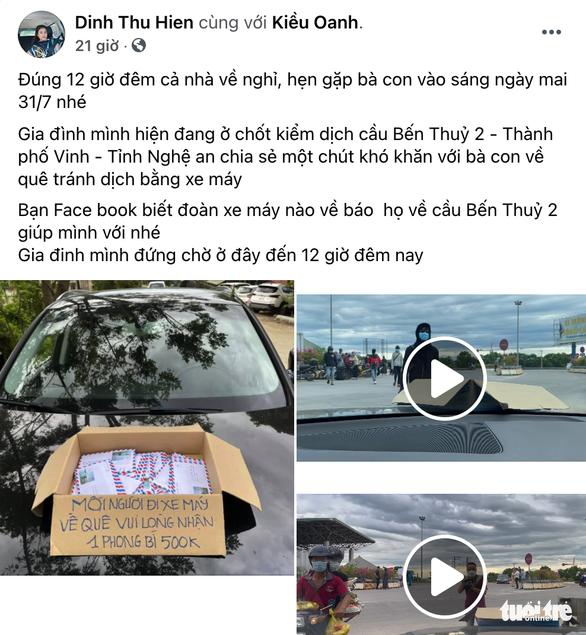 Phong bì 500.000 đồng và cửa hàng '0 đồng' tiếp sức người từ Nam về quê - Ảnh 2.