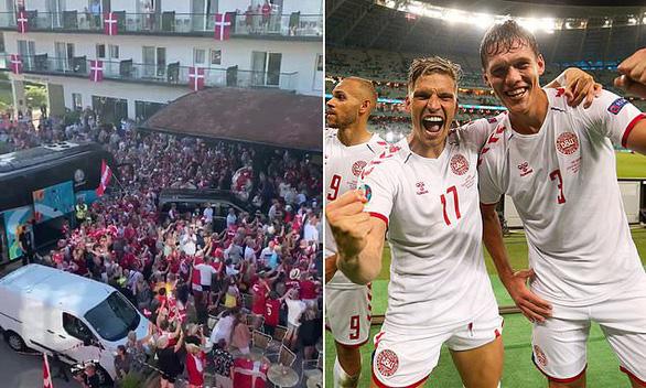 Video: Người hâm mộ Đan Mạch tưng bừng đón chào những người hùng trở về - Ảnh 3.