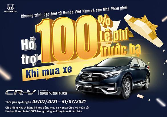 Hỗ trợ 100% lệ phí trước bạ khi mua Honda CR-V - Ảnh 1.