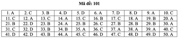 Bài giải môn toán kỳ thi tốt nghiệp THPT năm 2021 - Ảnh 7.